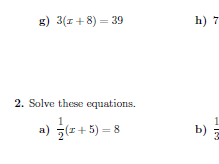 Linear equations with brackets worksheet (with solutions)