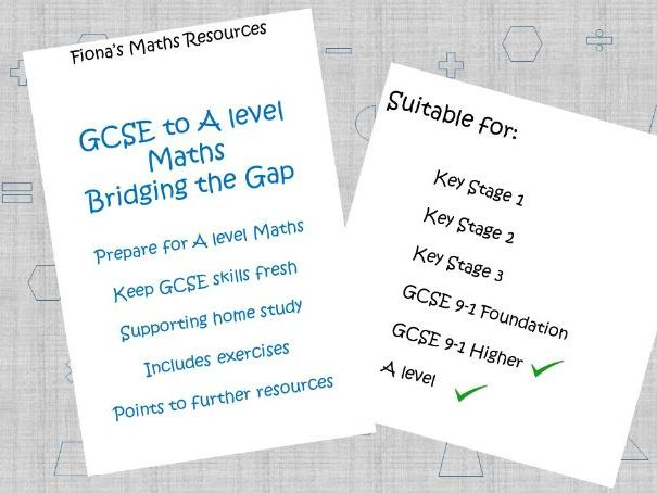 GCSE Maths to A level - bridge the gap guidance booklet