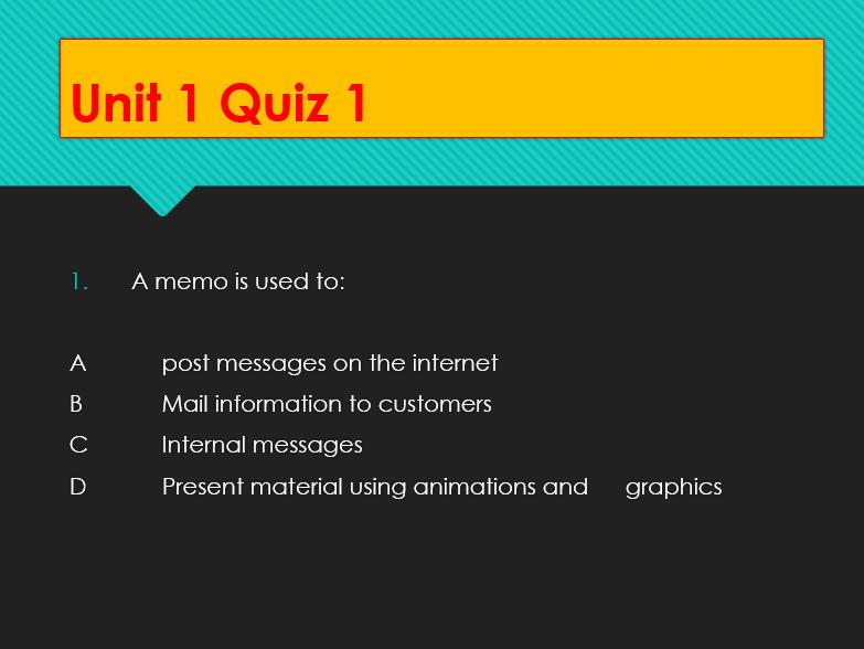 ICT Quiz