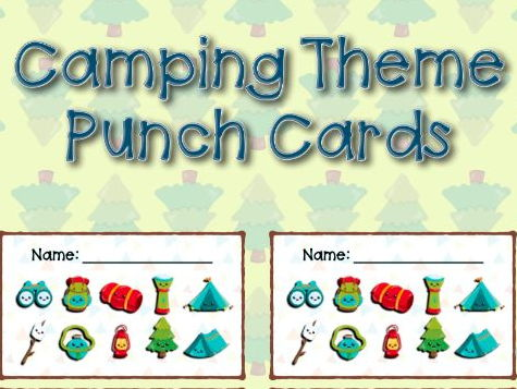 Camping Themed Punch Cards
