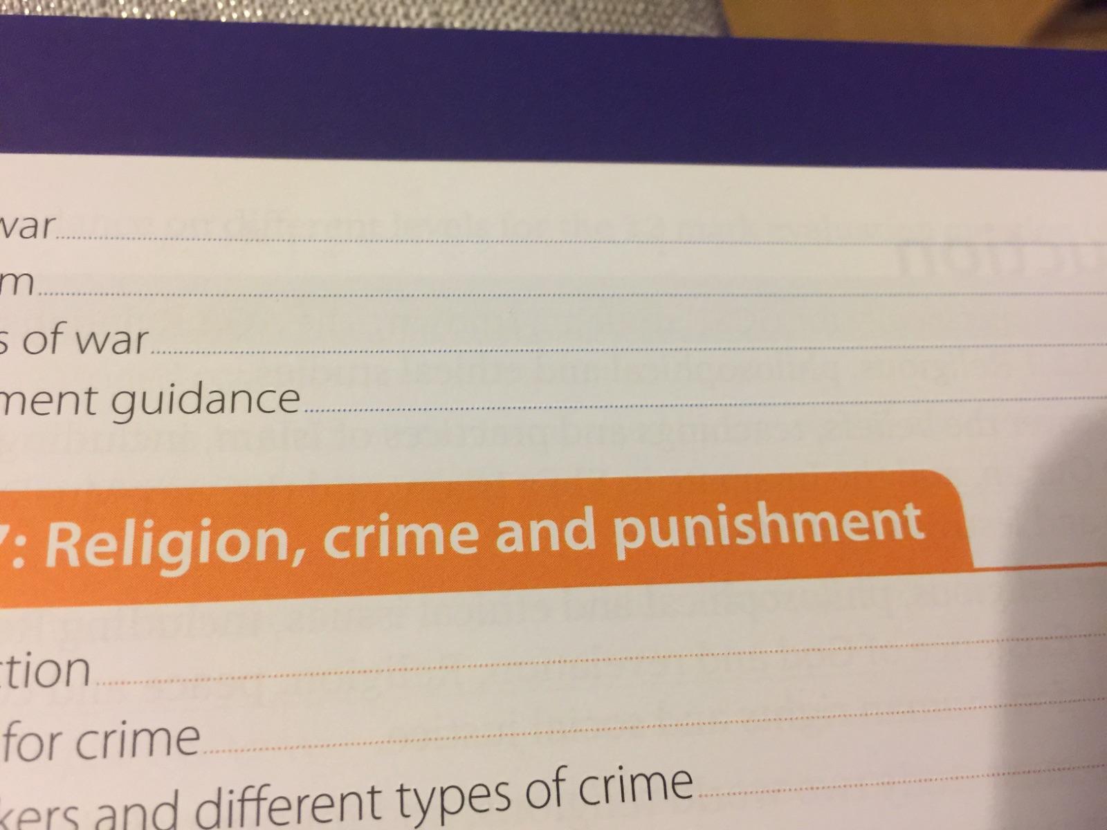 AQA 9-1 GCSE Crime and Punishment. Christianity and Islam