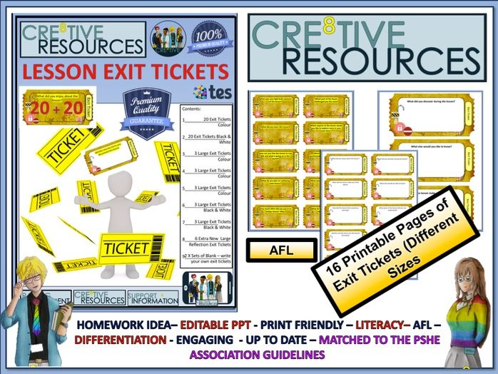 Exit Tickets by thecre8tiveresources | Teaching Resources