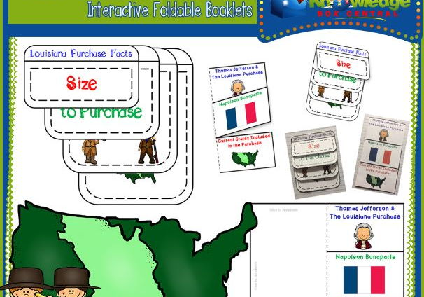 The Louisiana Purchase Interactive Foldable Booklets