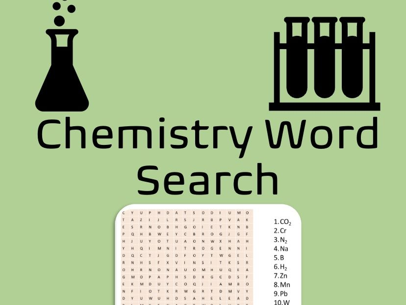 Chemistry Wordsearch - Elements & Molecules