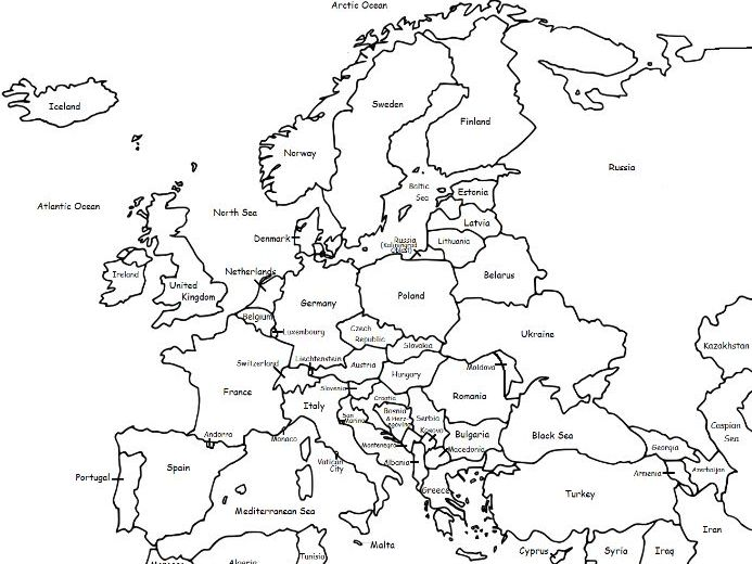 EUROPE - CONTINENT - Printable packet
