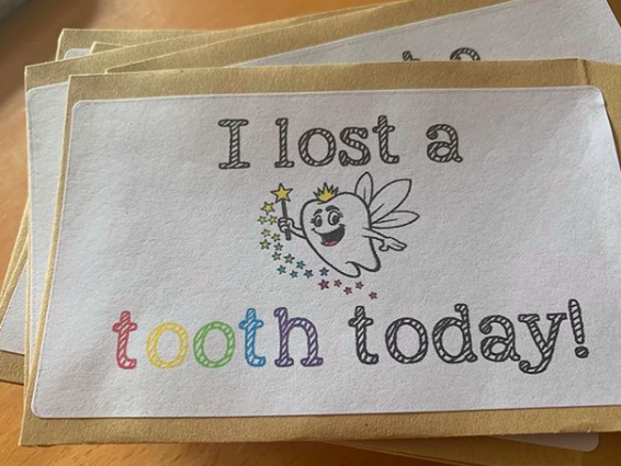 Lost Tooth Stickers for envelopes