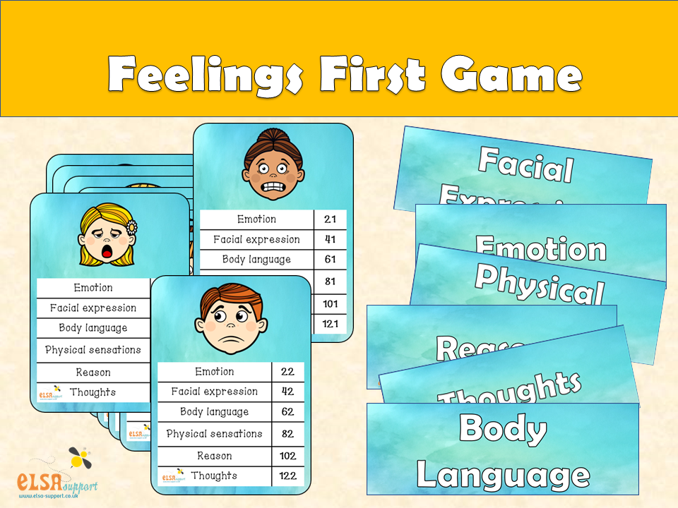 ELSA SUPPORT - Feelings First game - emotions, pshe, feelings