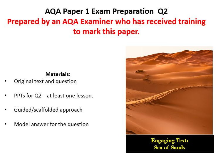 AQA GCSE English Language Paper 1 Exam Preparation  Question 2