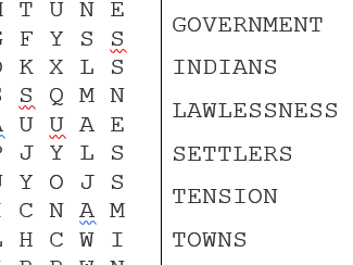 American West Word searches Topics 1, 2 & 3 Editable