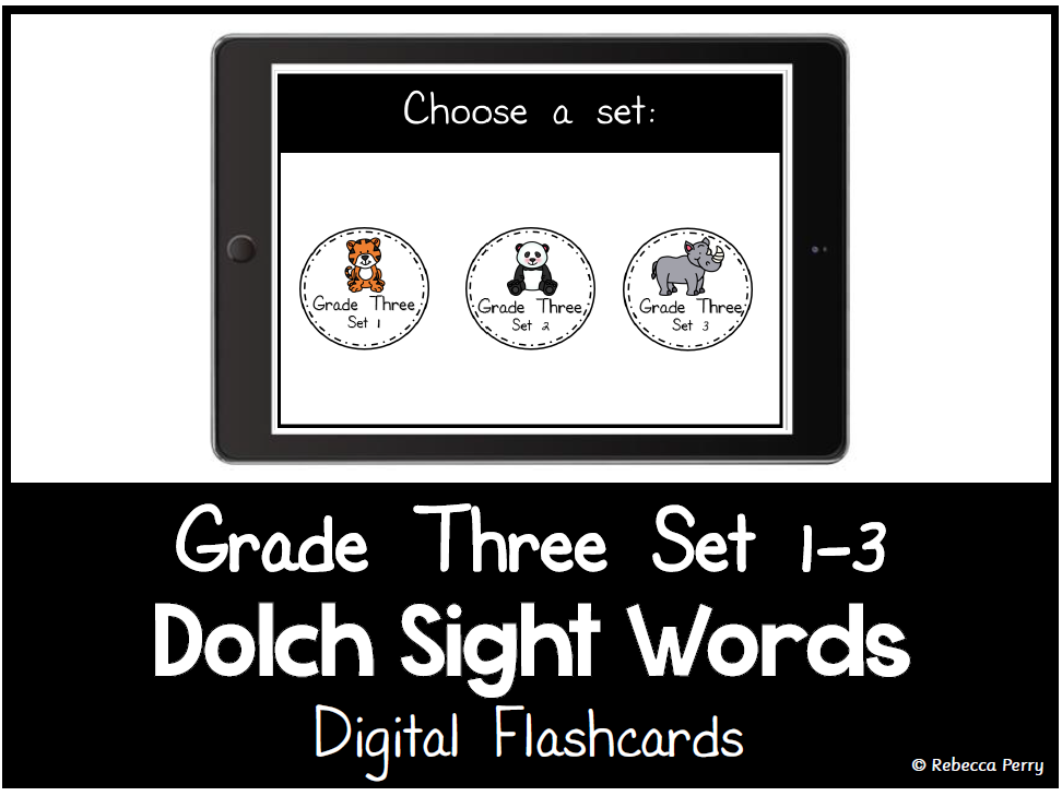 Dolch Sight Words - Digital Flashcards - Grade Three Set 1-3