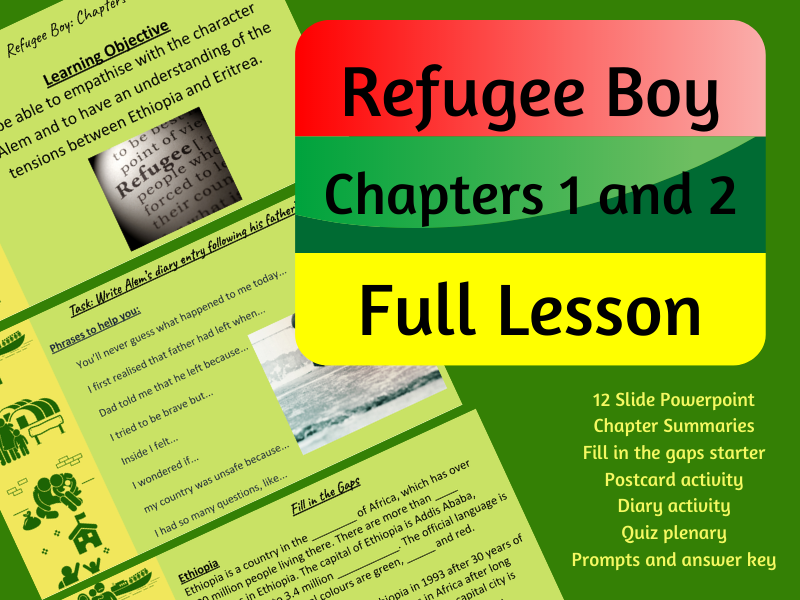 Refugee Boy Chapters 1 and 2 Full Lesson