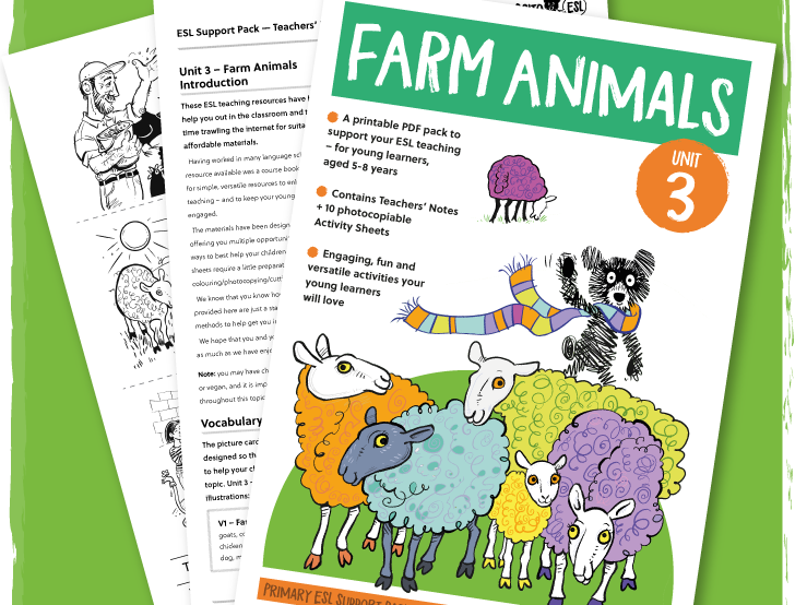 ESL/EFL Activity Pack: Farm Animals - ages 5-8 years