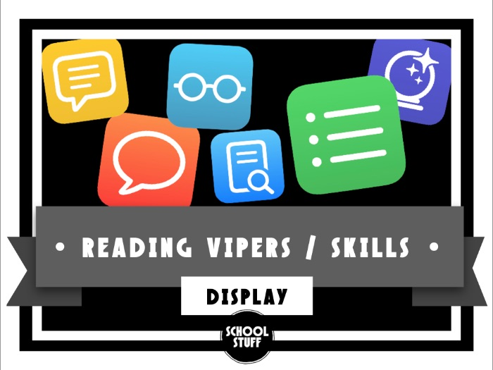 Reading Vipers / Skills Display and Resources