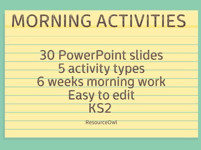 Morning activities