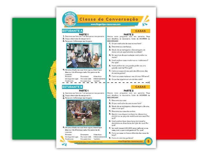 Casas - Portuguese Speaking Activity