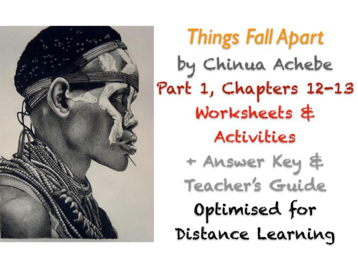 Things Fall Apart (Chinua Achebe) Ch. 12-13 - Symbolism - Activities + ANSWERS