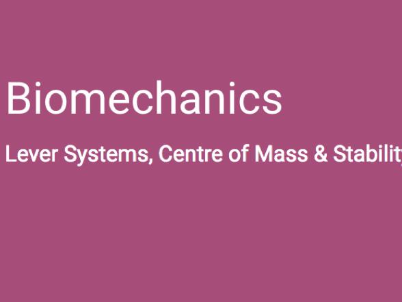 A-Level PE (OCR) Biomechanics - Lever Systems, Centre of Mass & Stability