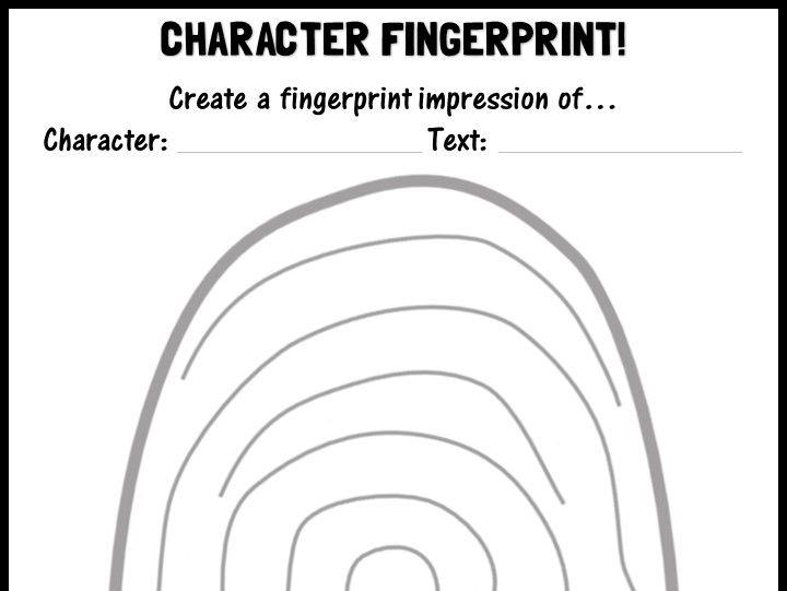 Character fingerprint!