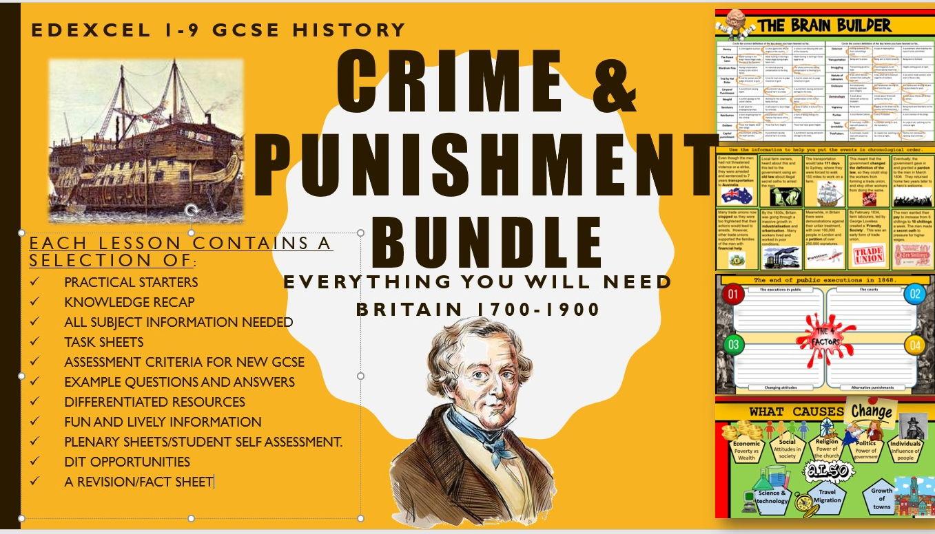 Crime and Punishment GCSE History Edexcel 1-9 1700-1900 bundle