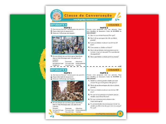 Cidades - Portuguese Speaking Activity