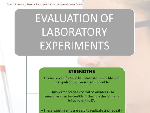 Poster - Evaluation of Laboratory Experiments