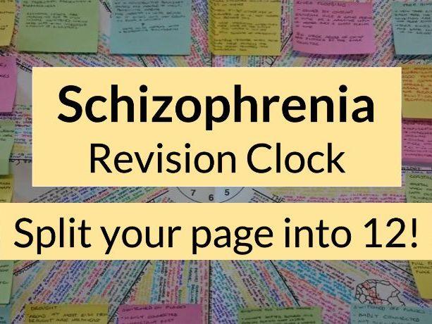Psychology - Schizophrenia Revision Clock