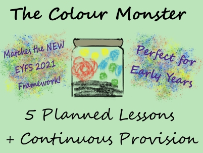 Early Years Continuous Provision - Colour Monster