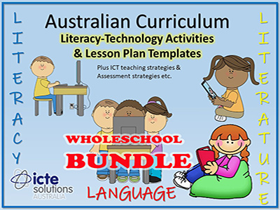 Literacy - Technology Lesson Plans Bundle