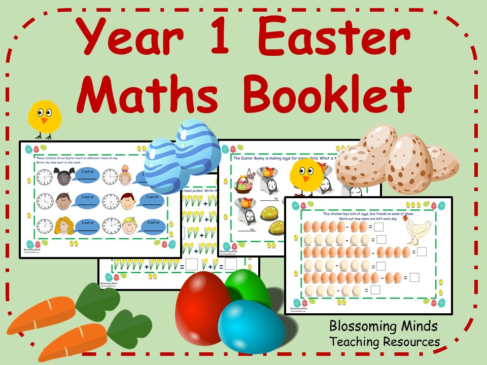 Year 1 Easter Maths Activity Booklet