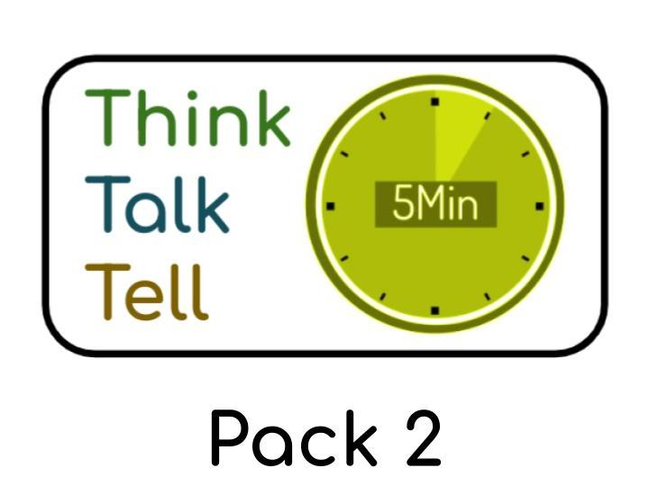 Think Talk Tell - PSHE / Philosophy questions for Children : Pack 2