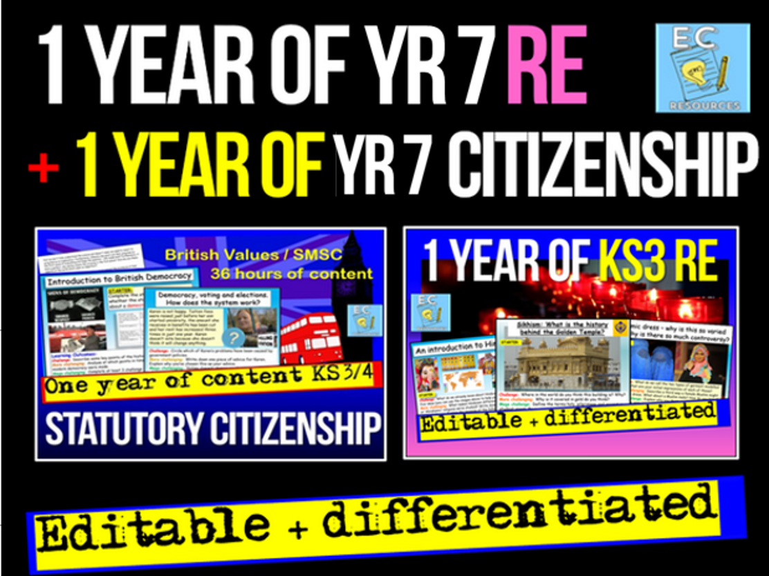 Complete Year 7 RE and Citizenship