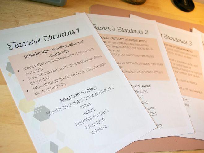 NQT Teacher's Standards Folder Dividers