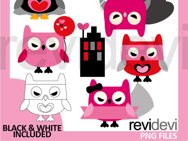 Free Valentine Owl Clipart Valentines day or other - HEART