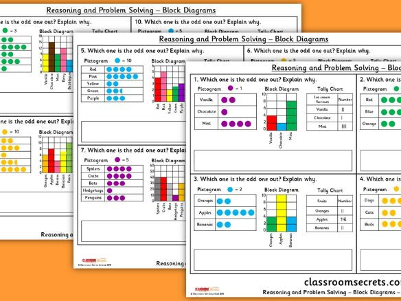 Year 2 Block Diagrams WRM Spring Block 2 Reasoning and Problem Solving Pack