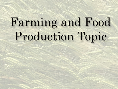 KS 2 Farming and food production Cross Curricular Topic