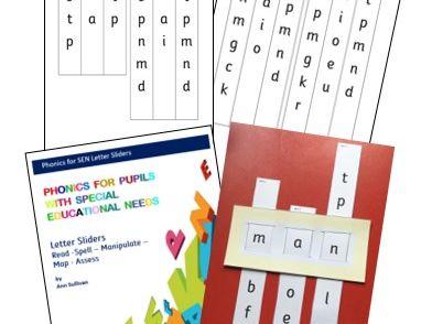 Letter Sliders 1: Sets 1-7 *Read Spell Manipulate Map Assess* -  Phonics for SEN