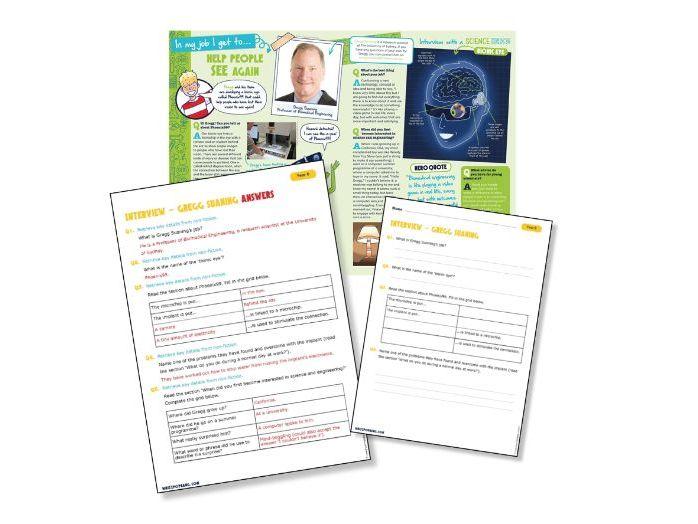 Year 6 Reading Science Light: bionic eye