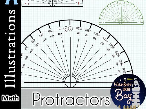 Protractor Clip Art Illustration Printable