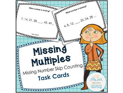 Missing Multiples Task Cards
