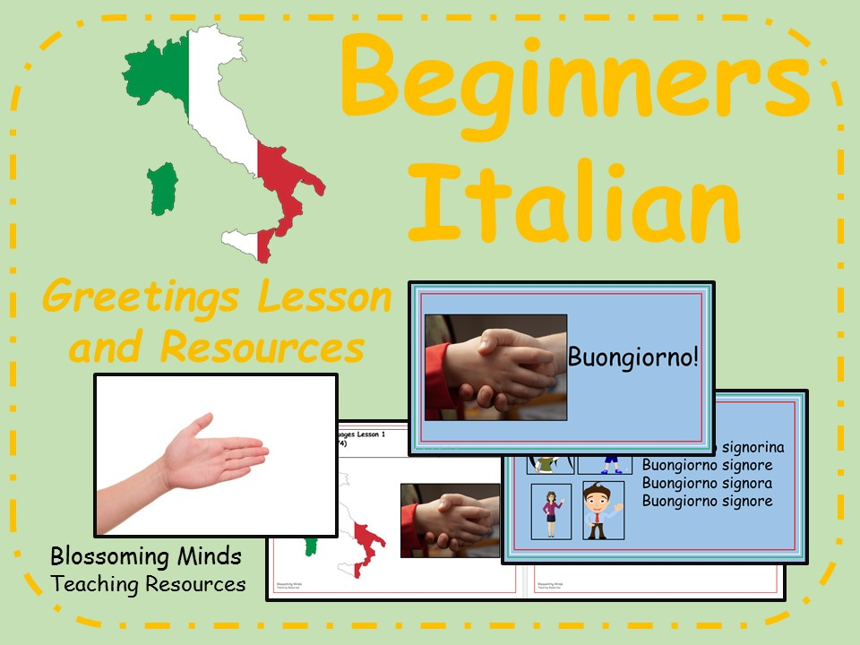 Italian lesson and resources - KS2 - Greetings