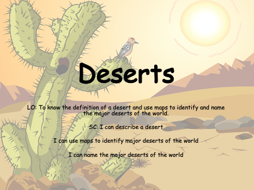 Deserts Planning and Resources