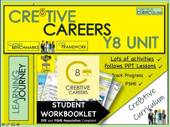 Cre8tive Careers Year 8 Student Work booklet