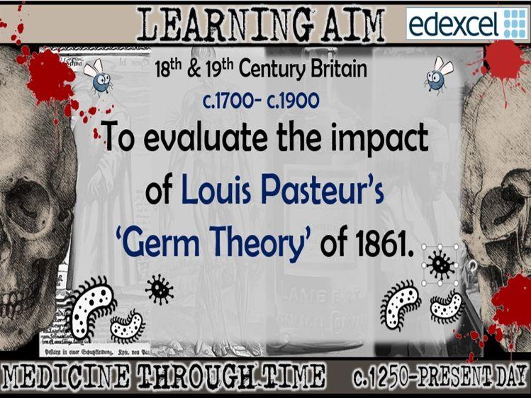GCSE History Edexcel: Medicine in Britain  - Louis Pasteur Germ Theory (Lesson 18)