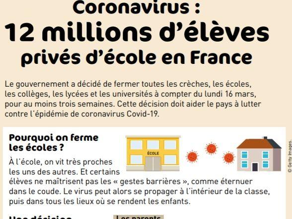 Article comprehension : Coronavirus