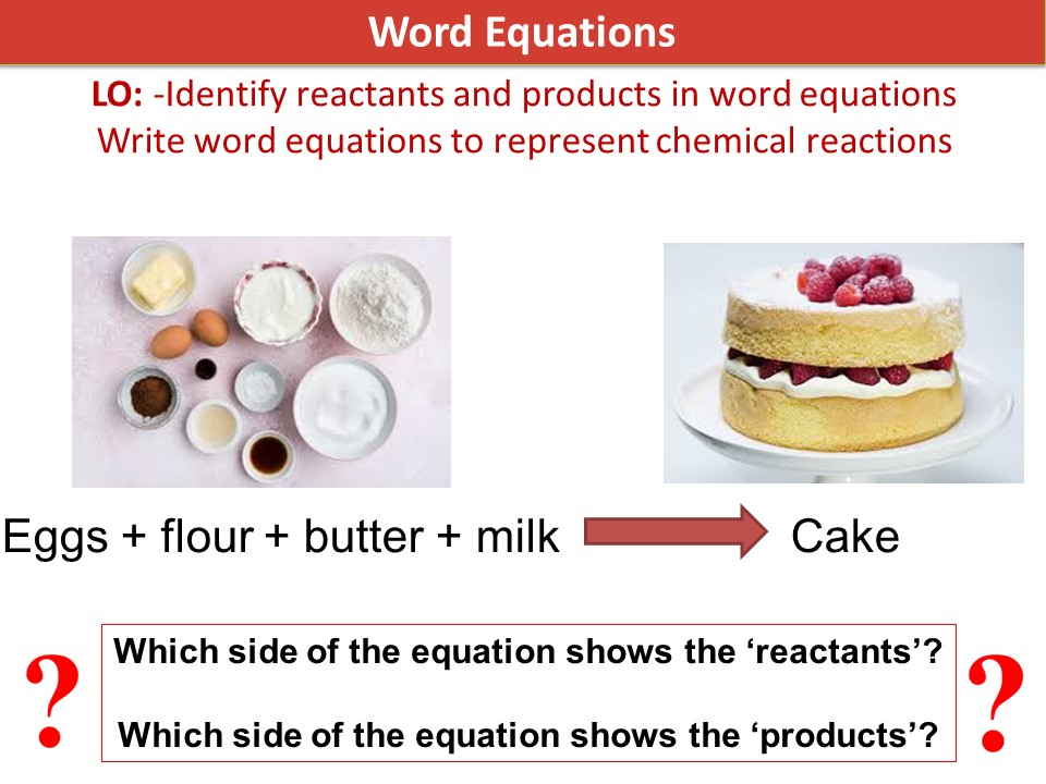 Activate 1 KS3 SOW Chemistry chapter 3 word equations