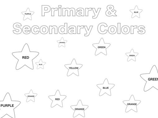 Primary and Secondary colours introduction.