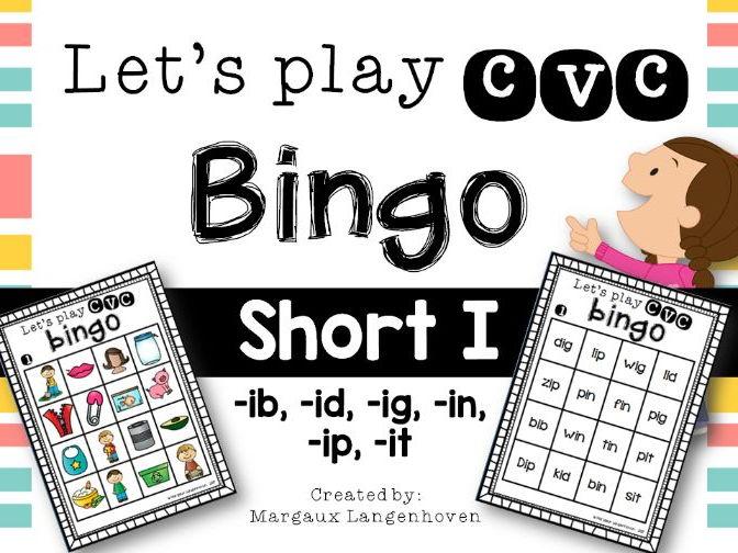 CVC Short I Bingo