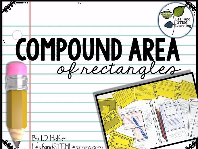 Compound Area Interactive Notebook and Task Cards