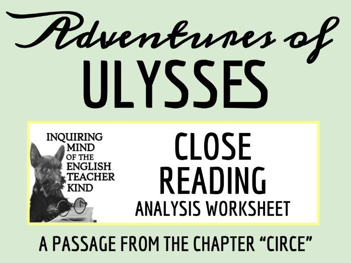The Adventures of Ulysses Close Reading Worksheet (Circe)