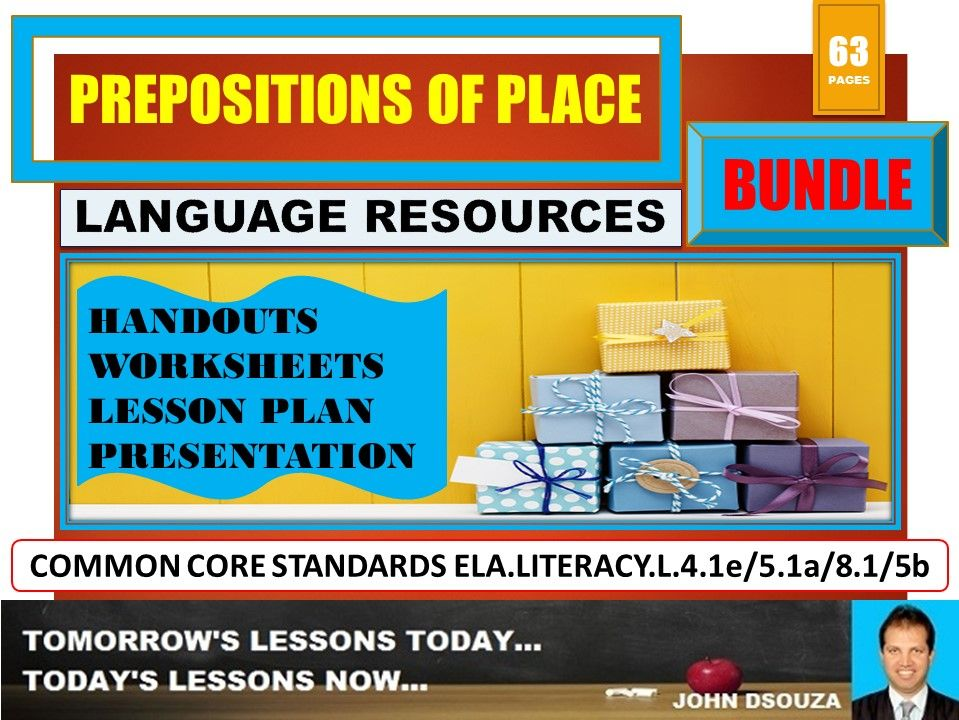 PREPOSITIONS OF PLACE BUNDLE